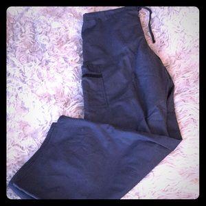 Scrubs L grey lace pocket bootcut drawstring NEW